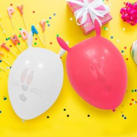 BI-03059  兔子氣球汽球/歡樂場景裝飾/會場佈置-4入