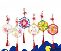 MKM-006 木質環掛飾幼稚園兒童手工塗色裝修吊飾創意材料包