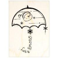 楓木印章 - G144- 聖誕歡樂傘子