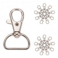 DIY-8001-8002 25X42mm創意鋅合金旋轉鑰匙扣 diy五金配件