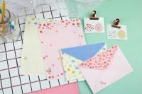 LP-25022-(01-04)  信套組/信封+信紙+貼紙/手寫信箋/2組入-花語