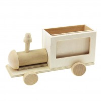 MTI-055 木質小火車筆筒相框彩繪