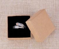 DIY-3019 5x5x4cm皮紙盒首飾盒小飾品盒2個裝
