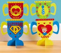 MKP-001   父親節手工禮物 diy超人爸爸獎盃兒童益智玩具材料包