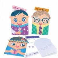 MKP-020 給父親母親老師的賀卡 兒童DIY手工材料包