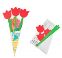 MKP-012 diy康乃馨花束手工diy賀卡兒童卡片製作材料包*現貨*