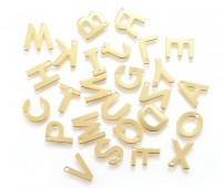 DIY-1003 304不鏽鋼金色26個英文字母混款100個裝