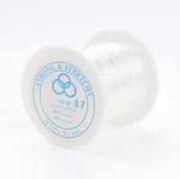 DIY-8036  0.7mm透明水晶彈力線100m/卷