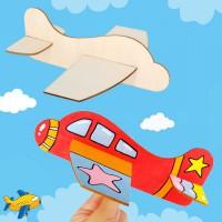 DIY手工材料包 - 木質填色飛機