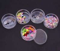 DIY-3041 五連體圓形大塑膠瓶 diy珠子飾品收納盒