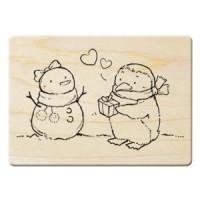楓木印章 - G168- 聖誕 愛的表白.企鵝禮物