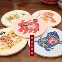 JHC-017 刺繡diy手工材料包初學布藝立體絲帶繡十二生肖刺繡(含繡綳)