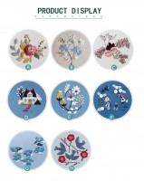 SZC-011刺繡DIY清新自然布藝材料包初學新手花卉(含繡綳)