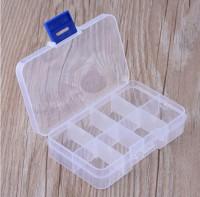 DIY-3011-3016 多格方形藍色透明塑膠耳飾品包裝盒子首飾收納盒便攜輕巧