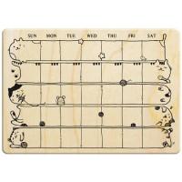 N020 - 楓木印章-愉悅好日子 貓咪月曆