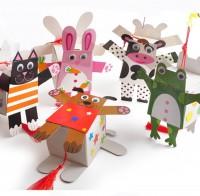 MKM-007 手提卡通燈籠幼稚園掛件卡通燈籠裝飾品自製diy材料包