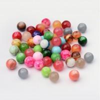 DIY-7003  12mm圓玻璃珠混款散珠子串珠材料-100粒裝