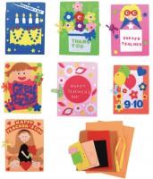 MKO-007 教師節不織布賀卡幼稚園創意美可diy兒童手工賀卡製作材料包