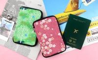 SC-10026(01-02)櫻花布拉鍊護照套