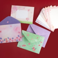 橫式信套組(小)/信封+信紙/手寫信箋-櫻の日