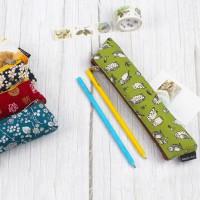 台灣珠友文具 - 花布加長型筆袋