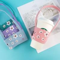 台灣珠友文具 - 杯套式飲料杯提袋 - 櫻の日