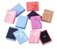 DIY-3023 7x9x2.6cmDIY蝴蝶結首飾包裝盒紙盒2個裝