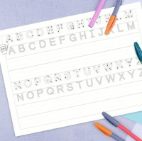 SS-10196  16K 英文字母練習紙/學前啟蒙習作/幼稚園練習本/綜合基礎練習-12張入
