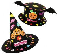 MDS-003 萬聖節diy帽子 幼稚園兒童益智手工玩具帽 節日派對裝飾