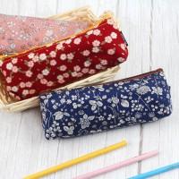 台灣珠友文具 - 拼布寬底小筆袋