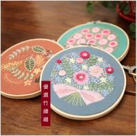 JHC-015 刺繡diy材料包植物花卉(含繡綳)