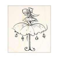 楓木印章 - H116- 聖誕 傘裙 歡樂吊飾