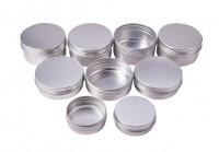 DIY-3032 30ml 60ml 80ml圓形螺紋鋁盒diy飾品盒