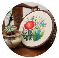JHC-002 刺繡DIY材料包初學新手繡花卉布藝復古(含復古繡綳)