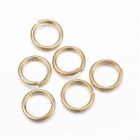 DIY-2017 5x1mm金色304不銹鋼開口圈單圈C扣diy手工飾品配件材料500粒裝