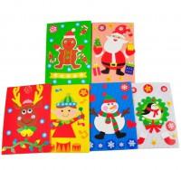 MKT-004 聖誕節賀卡 瓦楞紙賀卡 老人幼兒童創意手工DIY材料