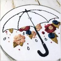 SZC-003刺繡diy立體手工繁花似錦製作布藝刺繡材料包(含繡綳)