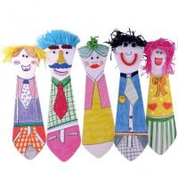 MKP-016 父親節紙質領帶單個裝含配件 節日幼兒手工DIY材料包