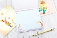 DR-11006  插畫橫式信紙本/便條本/記事本/手寫信箋-16張