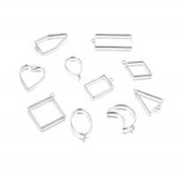 DIY-1004 幾何框架空心吊墜手工滴膠專用配件10個裝