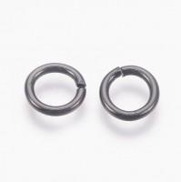 DIY-2020 9x1.5mm304不銹鋼黑色開口圈單圈 diy手工飾品配件100個裝