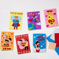 MKP-018 父親節禮物兒童 送爸爸創意黏貼立體賀卡 DIY手工製作材料包