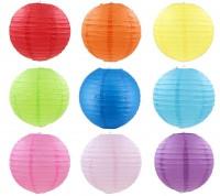 ***有少量現貨***MDM-003 30cm彩色紙燈籠中秋節掛飾兒童手工材料diy繪畫燈籠