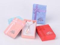 DIY-3002 混色方形吊墜首飾包裝紙盒diy飾品珠寶禮品半蓋包裝盒2個裝