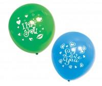BI-03027  12吋 我愛你圓型氣球汽球/小包裝