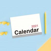 BC-05201 2021年A4/13K可掛式月計劃月曆/掛曆-直式