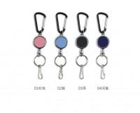 NA-20112  伸縮吊環鑰匙圈/附登山扣/證件夾/票卡夾/識別證夾