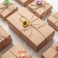 DIY-3003-3006 牛皮抽屜紙盒飾品包裝盒珠寶首飾盒子2個裝
