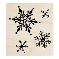 楓木印章 - F120 - 聖誕歡樂 雪花 背景