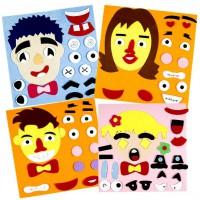 MTG-001 蒙特梭利教材-不織布表情拼圖